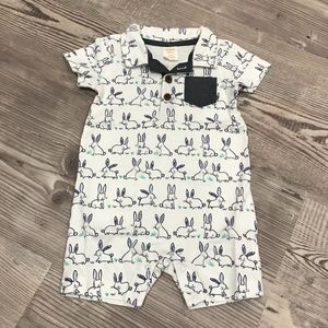 NEW Gymboree Bunny Romper for Baby Boy